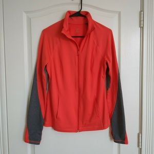 Z by Zella Running Jacket M Thumbholes Coral